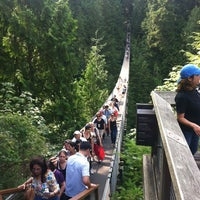 Photo taken at Capilano Suspension Bridge by Steve C. on 8/11/2012