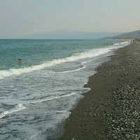 Photo taken at Velika Beach by Yannis H. on 8/9/2012