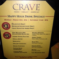 Photo taken at CRAVE American Kitchen & Sushi Bar by Amy B. on 4/2/2012
