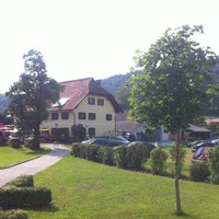 Photo taken at Gasthof Moser by Wolfgang H. on 7/28/2012