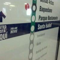 Photo taken at Metro Santa Isabel by Rodrigo b. on 3/18/2012