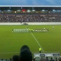Photo taken at Estádio Doutor Adhemar Pereira de Barros (Arena da Fonte) by Lívia M. on 3/24/2012