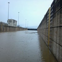 Photo taken at Greenup Lock And Dam by Brandon M. on 3/2/2012