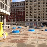 Photo taken at Thomas Paine Plaza by Jason H. on 8/18/2012