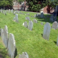 Photo taken at Copp's Hill Burying Ground by Ryne C. on 5/27/2012