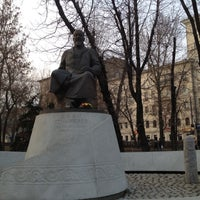 Photo taken at Abay Kunanbayev Monument by Igor P. on 4/15/2012