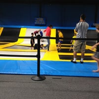 Photo taken at Bounce Trampoline Sports by Josey R. on 6/10/2012