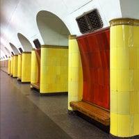 Photo taken at metro Rizhskaya by Sergey R. on 9/1/2012