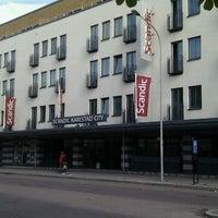 Photo taken at Scandic City by Valdis V. on 6/4/2012