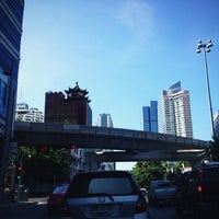 Photo taken at Silom Road by Aey S. on 5/20/2012