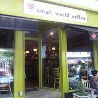 Photo taken at Small World Coffee by Jude T. on 4/25/2012