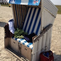 Photo taken at St. Peter-Ording Strand by Maike O. on 8/19/2012