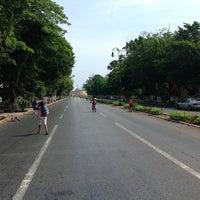 Photo taken at Paseo de Montejo by Alexis S. on 5/13/2012
