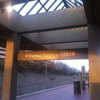 Photo taken at Vienna/Fairfax-GMU Metro Station by Milt S. on 3/8/2012