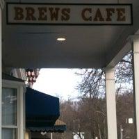 Photo taken at Brews Cafe by Francesca A. on 3/5/2012