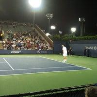 Photo taken at Court 7 - USTA Billie Jean King National Tennis Center by Jaret P. on 8/29/2012