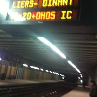 Photo taken at Brussels-Schuman Railway Station by ChrisLefevre on 3/30/2012