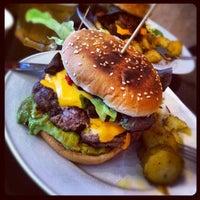 Photo taken at Rachel - Bagels & Burgers by polanri on 7/24/2012