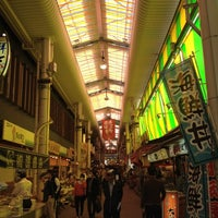 Photo taken at Omicho Market by Fumihiro I. on 4/21/2012