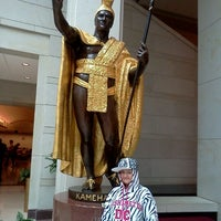Photo taken at King Kamehameha Statue by Chad M. on 5/21/2012