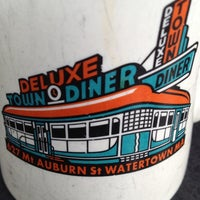 Photo taken at Deluxe Town Diner by Tim R. on 7/8/2012