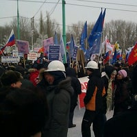 Photo taken at Музыкальный фонтан by Артем Г. on 2/18/2012