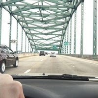 Photo taken at Piscataqua River Bridge by Craig B. on 4/8/2012