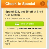 Photo taken at Shell by Nikki D. on 7/7/2012