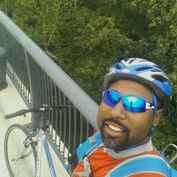 Photo taken at Woodrow Wilson Bridge Pedestrian Trail by Mike H. on 8/19/2012