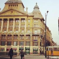 Photo taken at Deák Ferenc tér by Victoria on 2/12/2012