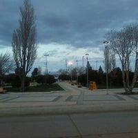 Photo taken at Plaza de Armas de Puerto Natales by Jorge S. on 8/29/2012