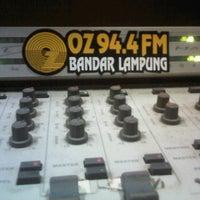 Photo taken at 94.4 fm OZ RADIO LAMPUNG by Diach Maharani on 6/2/2012