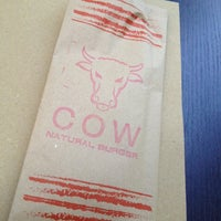 Photo taken at COW Burger Restaurant by Elena I. on 8/23/2012