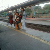 Photo taken at Stasiun Pondok Cina by Aliy N. on 9/11/2012