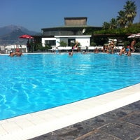 Photo taken at Lido Arcobaleno by Vincenzo D. on 8/18/2012