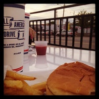 Photo taken at All American Hamburger Drive-In by Jessica R. on 5/1/2012