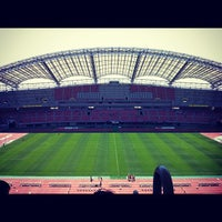 Photo taken at Denka Big Swan Stadium by nobibi on 5/19/2012