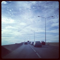 Photo taken at Rama III Bridge by Ekkapoom R. on 8/28/2012