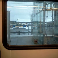 Photo taken at South Campus LRT Station by Don P. on 4/15/2012