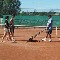 Photo taken at Röpte teniszpálya/lelátó :o) by Anikó Z. on 8/15/2012