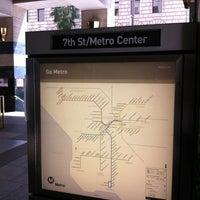 Photo taken at 7th St/Metro Center (Julian Dixon) Metro Station by LT B. on 4/29/2012