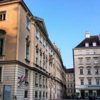 Photo taken at Judenplatz by Fabian T. on 3/22/2012