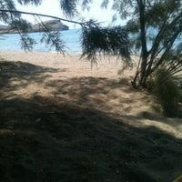 Photo taken at Tsigouri Beach by Γιάννης Λ. on 8/10/2012