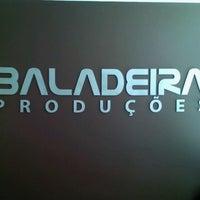 Photo taken at Baladeira Produções by Queli M. on 4/27/2012
