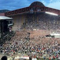 Photo taken at Stadio Nereo Rocco by Simonetta D. on 6/11/2012