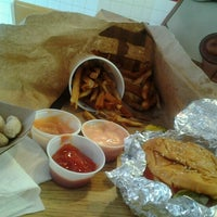 Photo taken at Five Guys by Tiffany P. on 8/3/2012