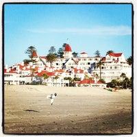 Photo taken at Coronado Beach by Dan F. on 2/18/2012