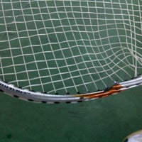 Photo taken at Dao Duy Anh Badminton Court by Hoang N. on 4/17/2012