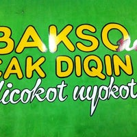 Photo taken at Bakso Cak Diqin by Joppy R. on 7/8/2012