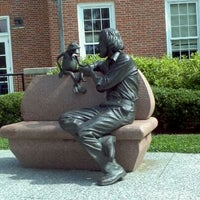 Photo taken at Jim Henson Statue by Akua A. on 6/2/2012